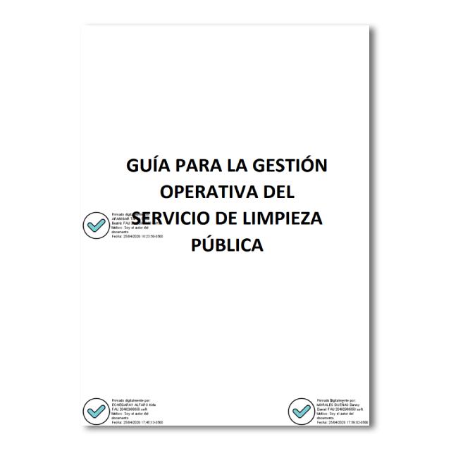 Guía para la gestión operativa del servicio de limpieza pública