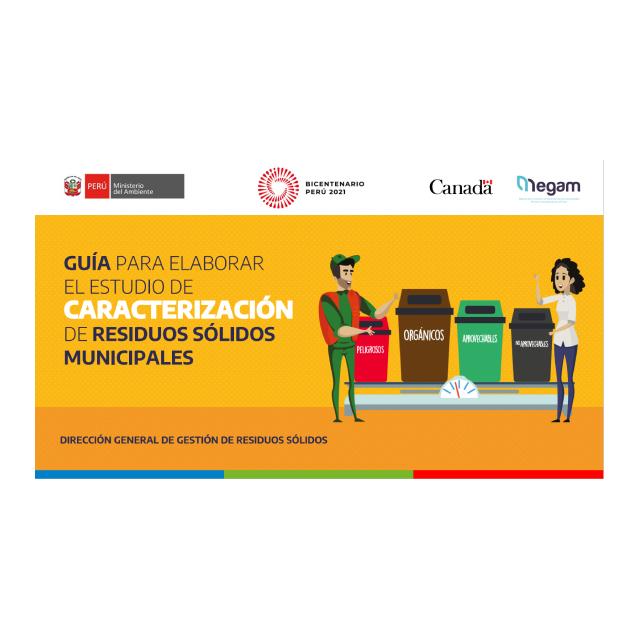 Guía para elaborar el Estudio de Caracterización de Residuos Sólidos Municipales. Presentación teórica